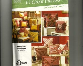Simplicity Decorating Pillows Pattern 5605