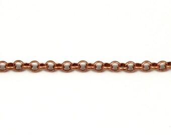 Antique Copper, 4mm Rolo Chain CC48