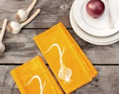 deep yellow onions napkins. made to order