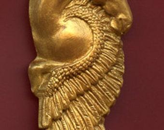 Polymer Clay Faux Faux Gold Pegasus/Unicorn   Undrilled  Cab GUNI 2