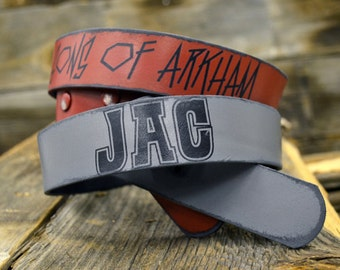 Personalized Stencil - Premium Leather Belt by Foster Weld
