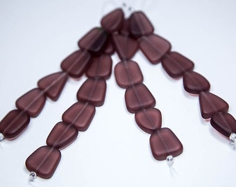 Amethyst  Inlet- recycled sea glass beads