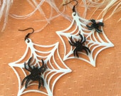 Spider Webs Acrylic Earrings