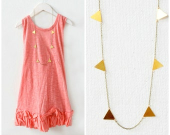 Golden Triangle Garland Necklace