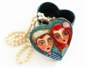 Valentine, Heart Jewelry Box