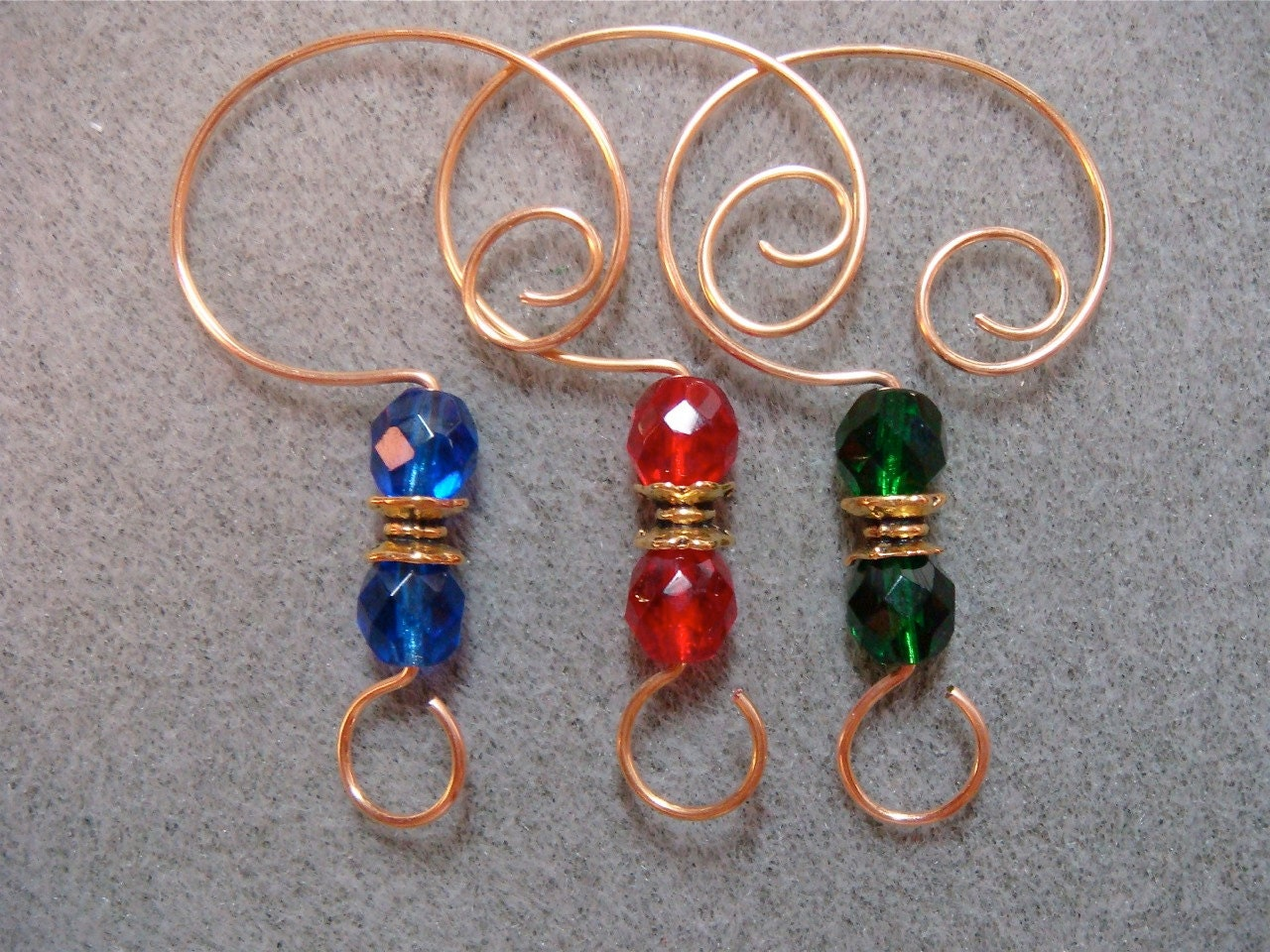 12 Ornament Hooks Hangers Enhancers for your Christmas