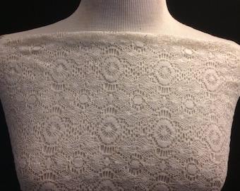 Crochet Design  Lace Fabric 1 Yard