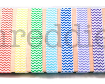 chevron elastic headbands, 11pc, choose your colors or one-of-each // stretchy zig zag elastic headbands