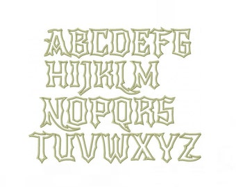 Rock N Roll Applique Embroidery Font Machine Embroidery Monogram Font