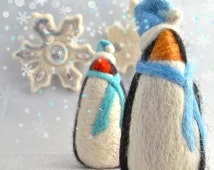 Needle Felting Tutorial DIY Winter Penguin Needle Felted Penguin wool ornament toy Winter, Instructions How To Needle Felt, INSTANT Download
