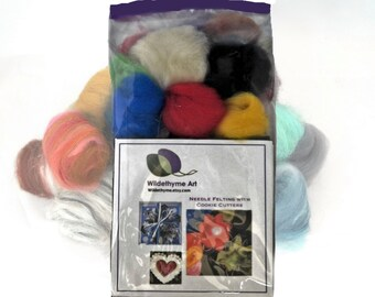 Needle Felting Kit, DIY kit, DIY Gift, Felting Mini Starter kit, Craft Kit, basic colors, beginner kit, needle felting gift, Starter Kit,