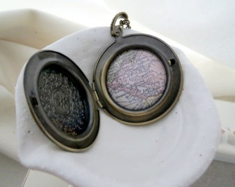Nicaragua  Map Locket Necklace
