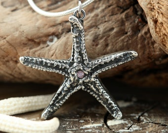 Make a Difference One Starfish at a Time...Fine Silver Necklace (Ready to Ship)