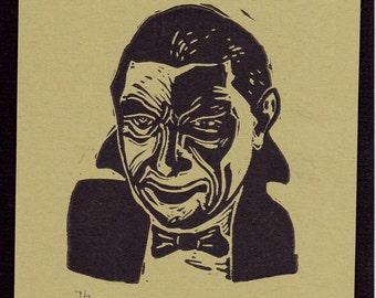 Dracula, Bela Lugosi Limited Edition Hand Pulled Print Original Classic Movie Monster Halloween Art Vampire Horror Movie Star