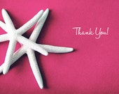 25 per set-  Thank You folded cards - White Starfish