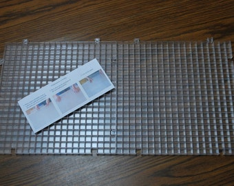 """Glass Cutting Surface - 11"""" x 22"""" - Waffle Grid Cutting Surface -  WITH ADJUSTMENTS can plug in Morton tools"""