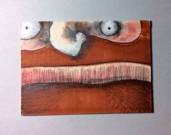 Bearded Guy ACEO by Aaron Butcher