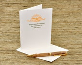 We turn not older with years - Emily Dickinson quote - letterpress card