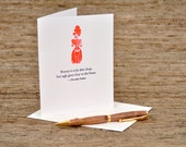 Beauty is only skin deep - Dorothy Parker quote - letterpress card