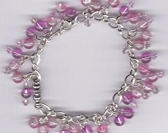 Pink Dangle Bracelet