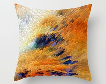 Throw Pillow Abstract Art COVER Design For Your Home Modern Yellow Orange Brown Decor Artsy Decorating Made Easy Living Room Bedroom Bedding