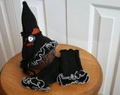 Halloween Newborn Baby Girls Hat Leg Warmers Photo Prop Set