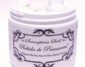 Bebida de Primavera Whipped Herbal, Aloe and Shea Butter Hand and Body Cream!