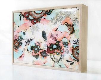 Amble - Resin-Coated Print on Wood Panel