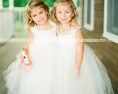 Ankle or Floor Length Flower Girl Tutu Dress