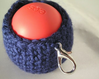 EOS Lip Balm Holder with Clip ~ Lip Balm Case ~ EOS Pouch Keychain ~ EOS Holder with Clip ~ a great gift for the Easter basket