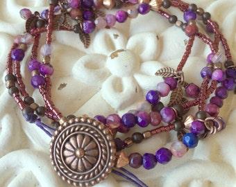 Carnival - Multi Wrap Bracelet or Necklace
