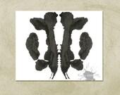 Rorschach Ink Blot Art print no 30