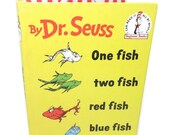 IPad Mini Case, Kobo Cover, Kindle Cover, Nook Holder Dr. Seuss One Fish Two Fish Book Yellow Tablet Device Case