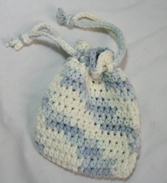 Small Multipurpose Crochet Cotton Bag