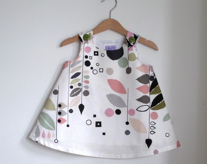 Stockholm Modern Baby Girls' Dress, Toddler Girls' Dress, Elegant Pastel Easter Dress, Birthday Dress, Size Newborn to Girls' size 2T