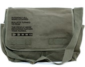Messenger Bag, Film v. Bullet, Crossbody Bag, Large Canvas Bag, Laptop Bag, Men's Messenger Bag, Women's Messenger Bag, Camera Bag, Quote