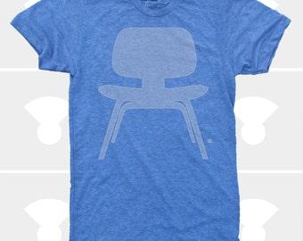 Men's TShirt Eames Plywood Chair (Men), American Apparel T-Shirt S,M,L,Xl,Xxl, Mid Century Modern, Eames Chair Shirt (4 Colors) for Men