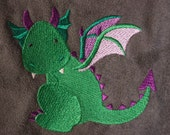 Pouch Spare Pocket Embroidery Dragonlet Dragon Baby