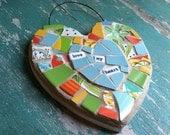 Love My Heart Mosaic
