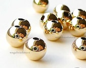 25 pcs 4mm Gold Filled Round Beads Seamless Spacers B39GF