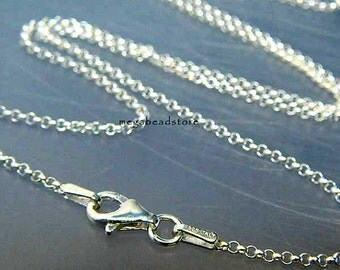 18 in. Italy 925 Sterling Silver Rolo Chain 1.5mm Necklace FC16