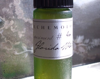 Florida Water Botanical Cologne in a Vintage Green Glass Bottle Organic Artisanal Handmade Small Batch Made in Brooklyn, NY