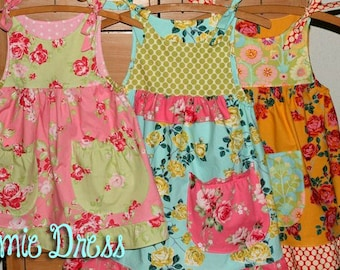 The Emie Dress Instant Download PDF Pattern DIY Tutorial Girls Toddler Size 1-6 Little Bird Lane EASY