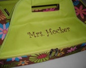 Personalized Brown Floral Casserole Carrier by Never Felt Better