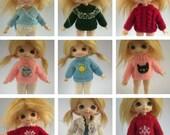1/12 Scale CUSTOM Handknitted Sweater/Cardigan for Pukifee/Lati Yellow or Dolls House dolls