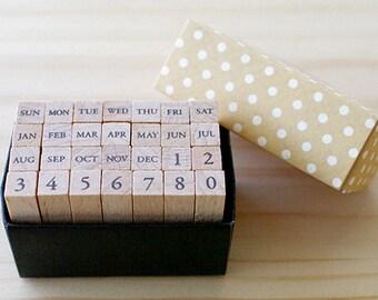 A TYPE - Mini Calendar Stamp Set