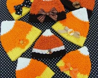 1.20 Birthday Sale - Crochet Hat Patterns Candy Corn Hat Pattern INSTANT DOWNLOAD - Infant Crochet Pattern - No. 66