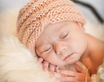 Bitty Baby Turban knitting PATTERN - PDF format