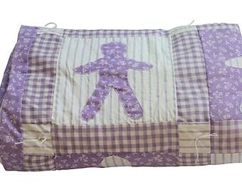 Lavender & White Child's Quilt - Baby Doll Quilt - Purple - Crib Quilt
