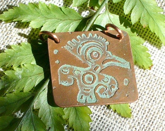 Etched Copper Jewelry Components  SRA Handmade by Catalina Glass